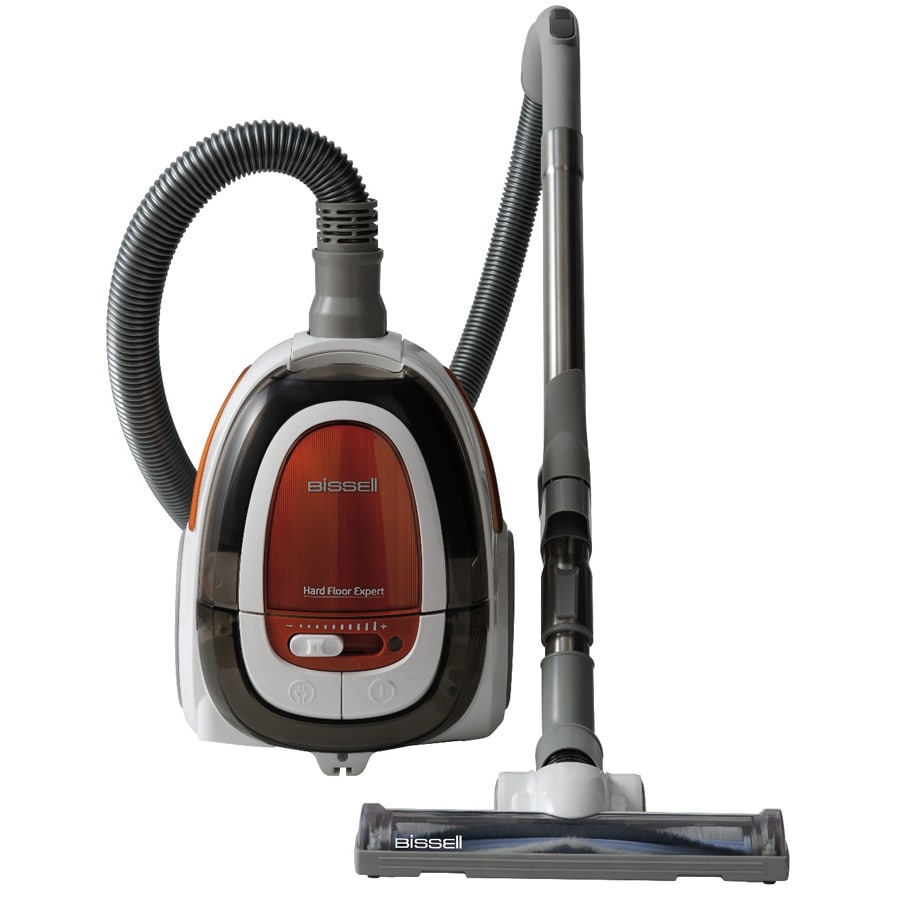 bissell hard floor expert bagless canister vacuum