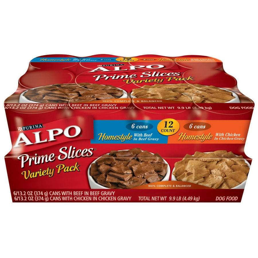 ALPO 12-Pack 13.2-oz Beef and Chicken Adult Dog Food Variety Pack