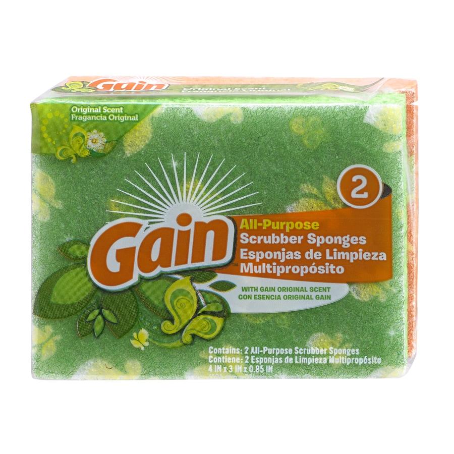 Gain 2 Pack All Purpose Scrubber Sponge