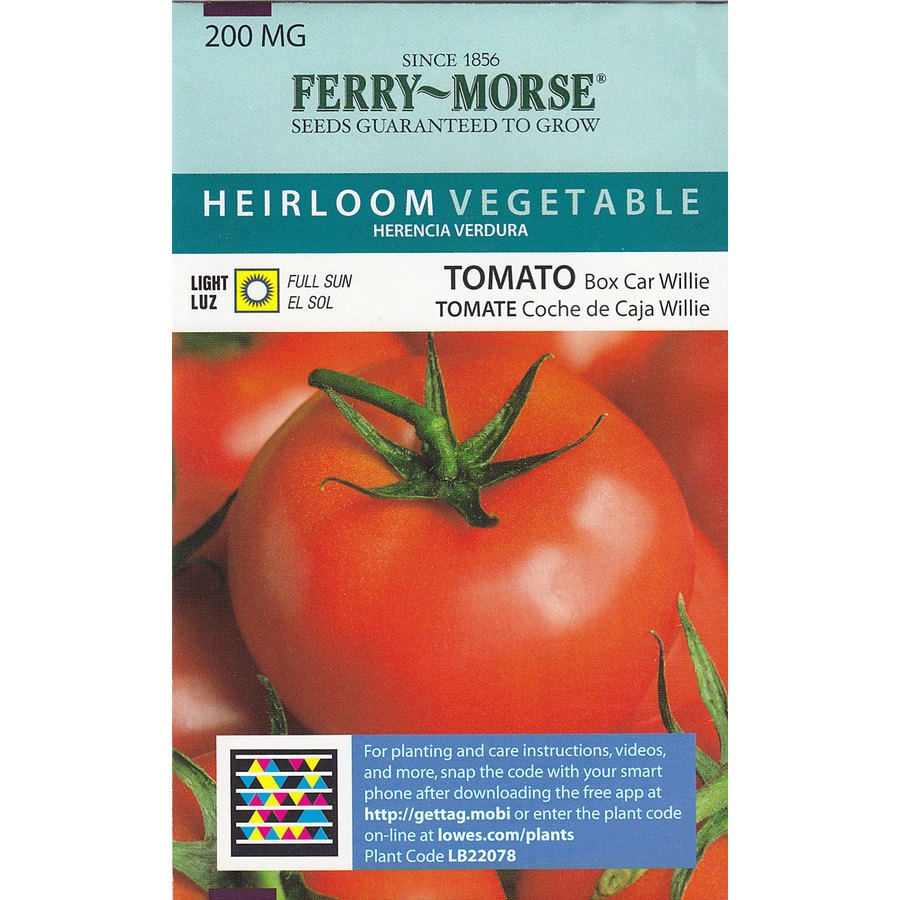 Ferry-Morse Tomato Box Car Willie Vegetable Seed Packet
