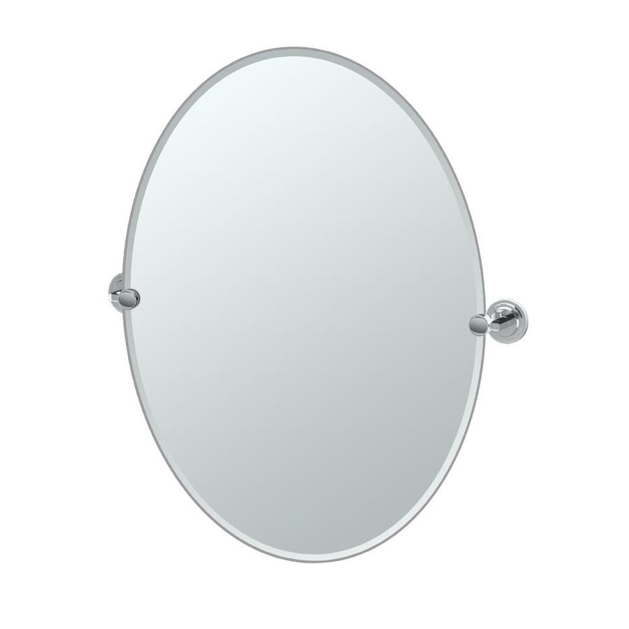 Gatco Marina 24-in x 32-in Oval Frameless Bathroom Mirror