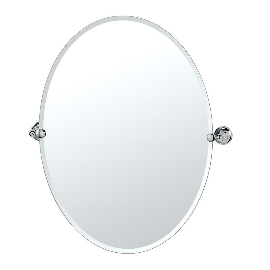 Shop Gatco Tiara Tiara 24-in Chrome Oval Bathroom Mirror at Lowes.com