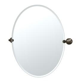 Gatco Tiara 24 In X 32 In Oval Frameless Bathroom Mirror
