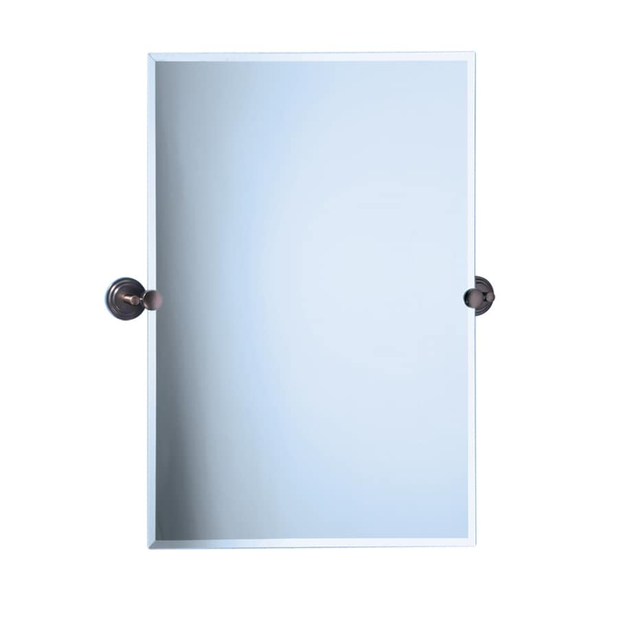 Gatco Marina 28-in W x 31.5-in H Rectangular Tilting Frameless Bathroom Mirror with Edges