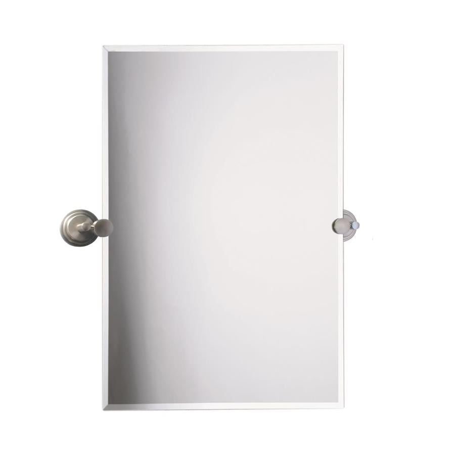 Frameless bathroom mirrors - Gatco Tiara 23 5 In X 31 5 In Rectangular Frameless Bathroom Mirror