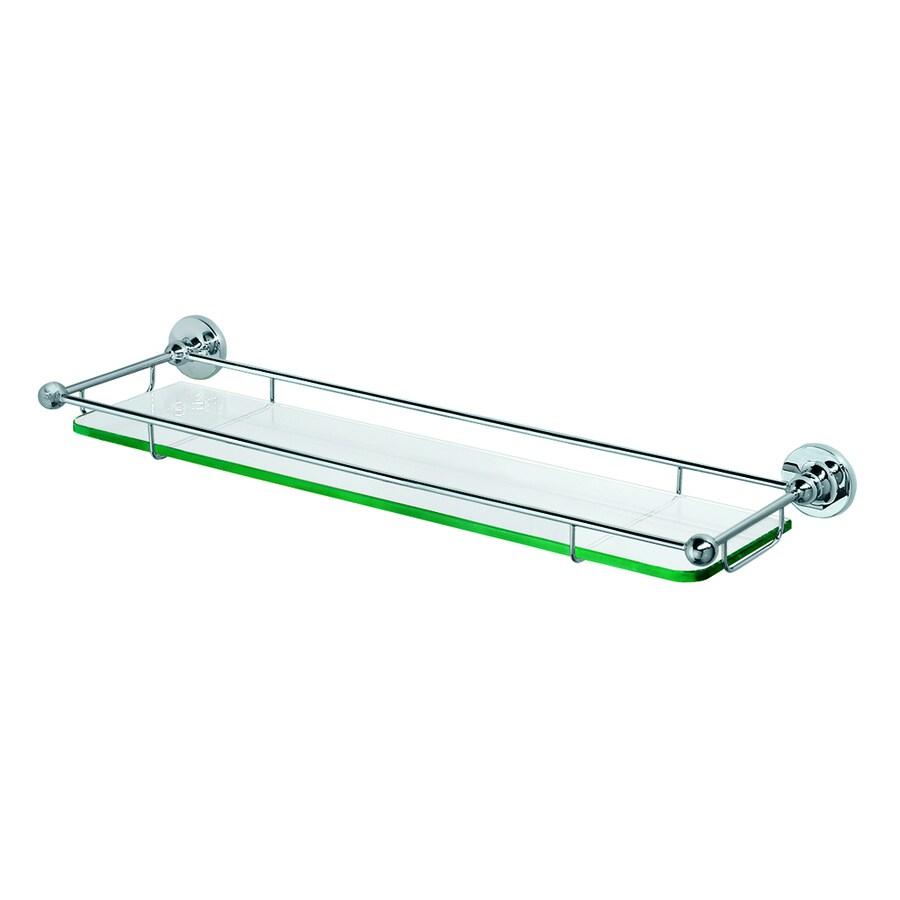 Glass Bathroom Shelf Shop Gatco Premier Chrome Glass Bathroom Shelf At Lowescom