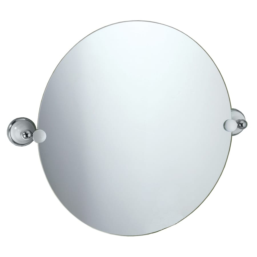 Gatco Franciscan 23 In W X 195 H Round Tilting Frameless Bathroom Mirror