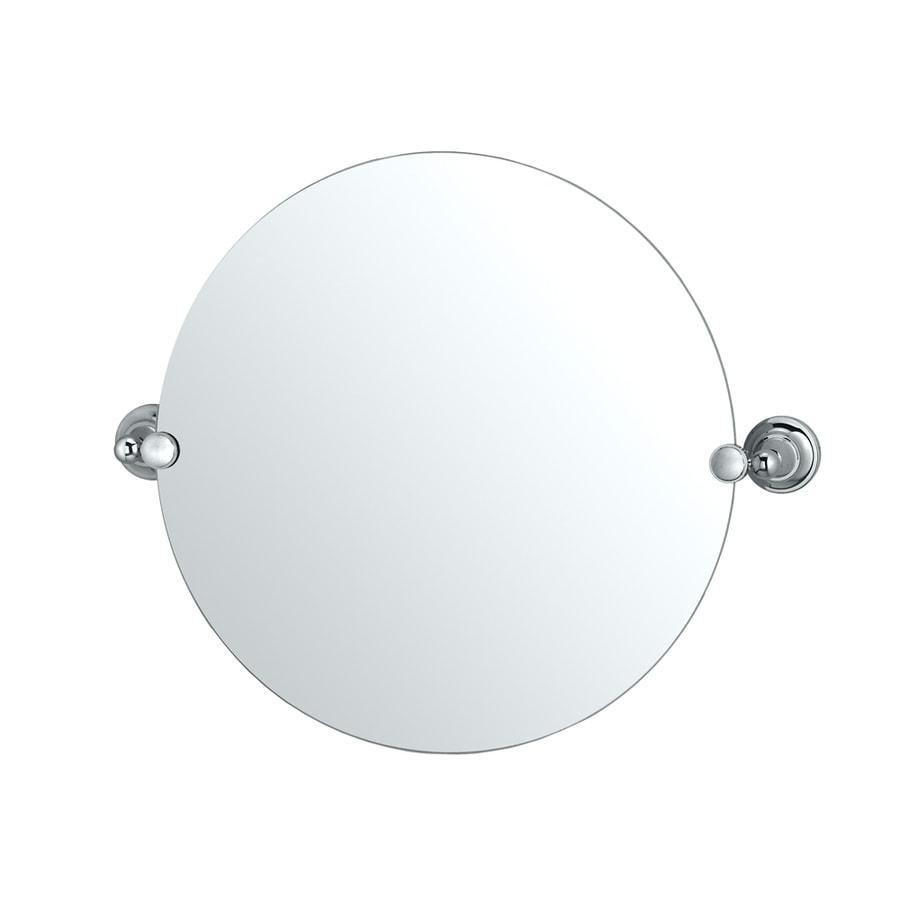Gatco Tiara 19.5-in W x 19.5-in H Round Tilting Frameless Bathroom Mirror with Edges