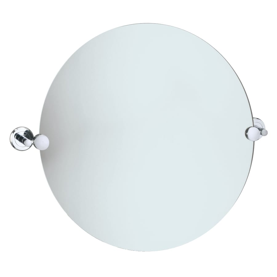 Gatco Latitude 2 19.5-in W x 19.5-in H Round Tilting Frameless Bathroom Mirror with Edges