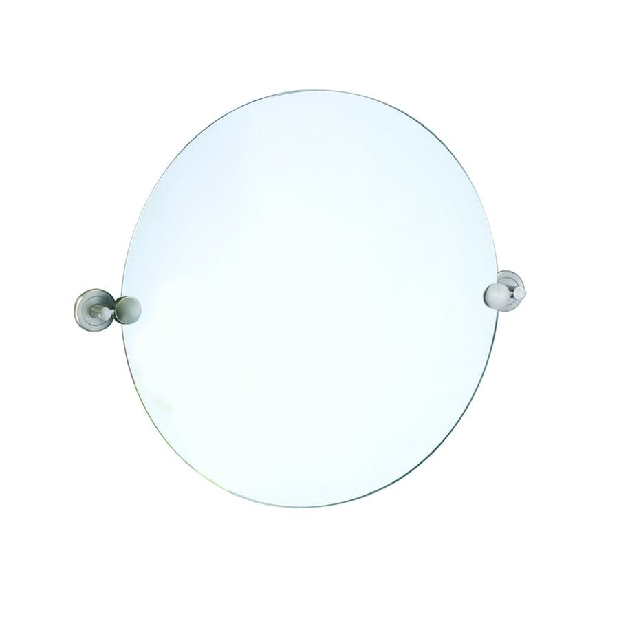 Shop Gatco Latitude 2 19 5 In W X 19 5 In H Round Tilting Frameless Bathroom Mirror With Edges