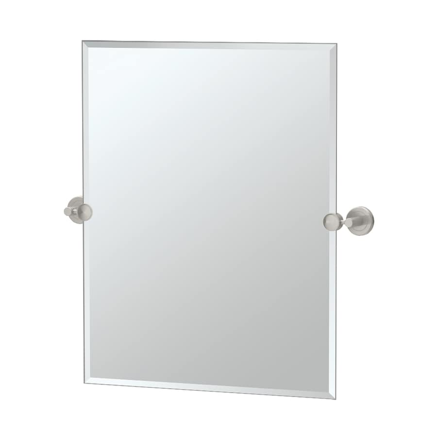 Gatco latitude 2 19 5 in satin nickel rectangular - Bathroom mirror mounting hardware ...