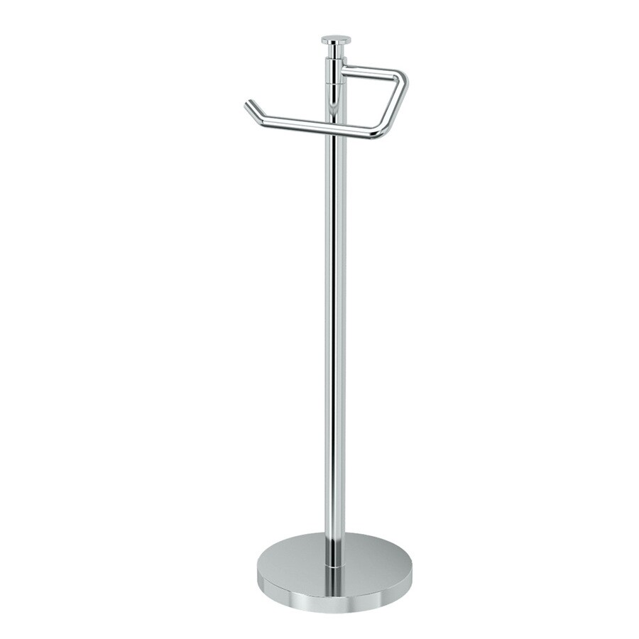 Gatco Premier Chrome Freestanding Floor Single Post with Arm Toilet Paper Holder