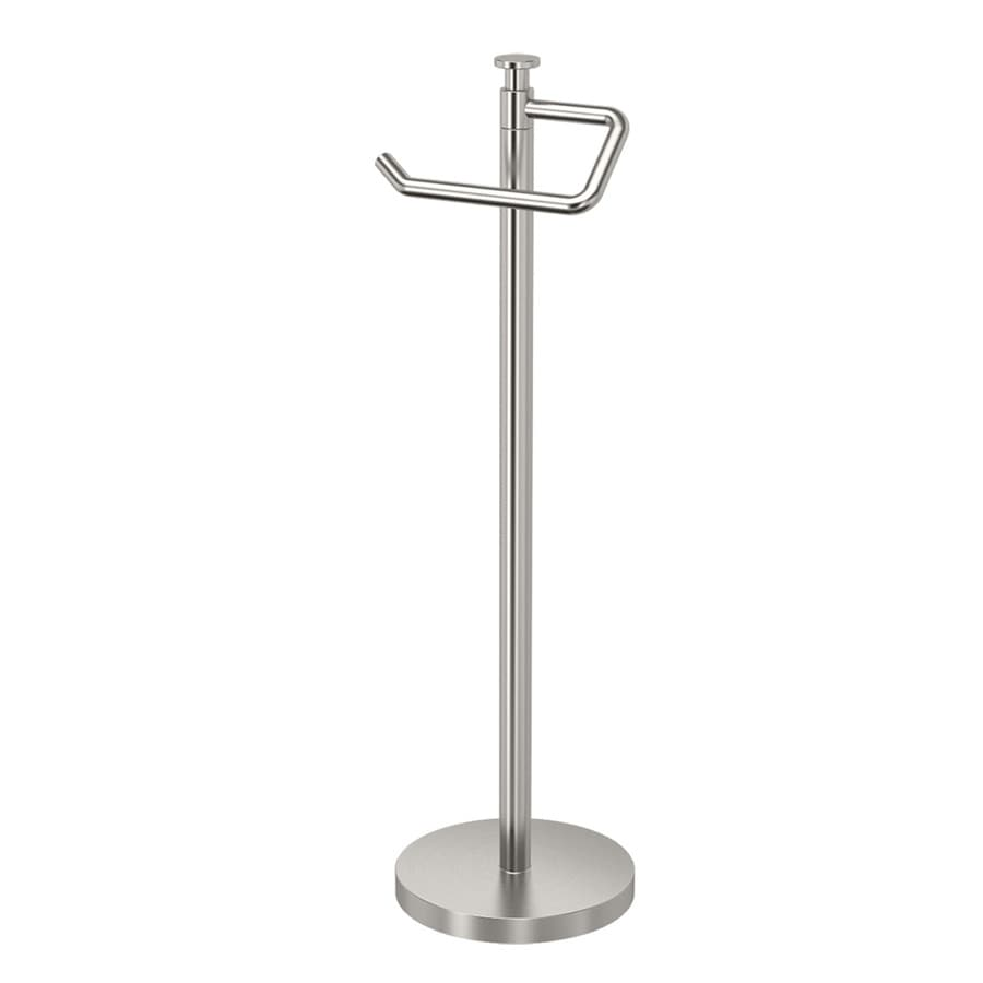 Gatco Premier Satin Nickel Freestanding Floor Single Post with Arm Toilet Paper Holder