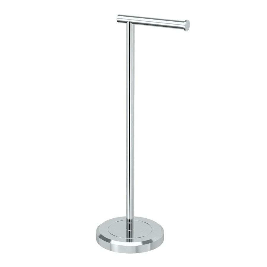 Gatco Latitude 2 Chrome Freestanding Floor Single Post with Arm Toilet Paper Holder