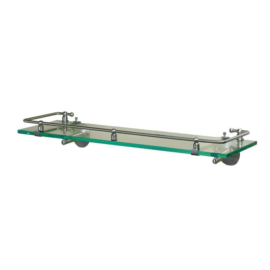 Gatco Premier Satin Nickel Glass Bathroom Shelf