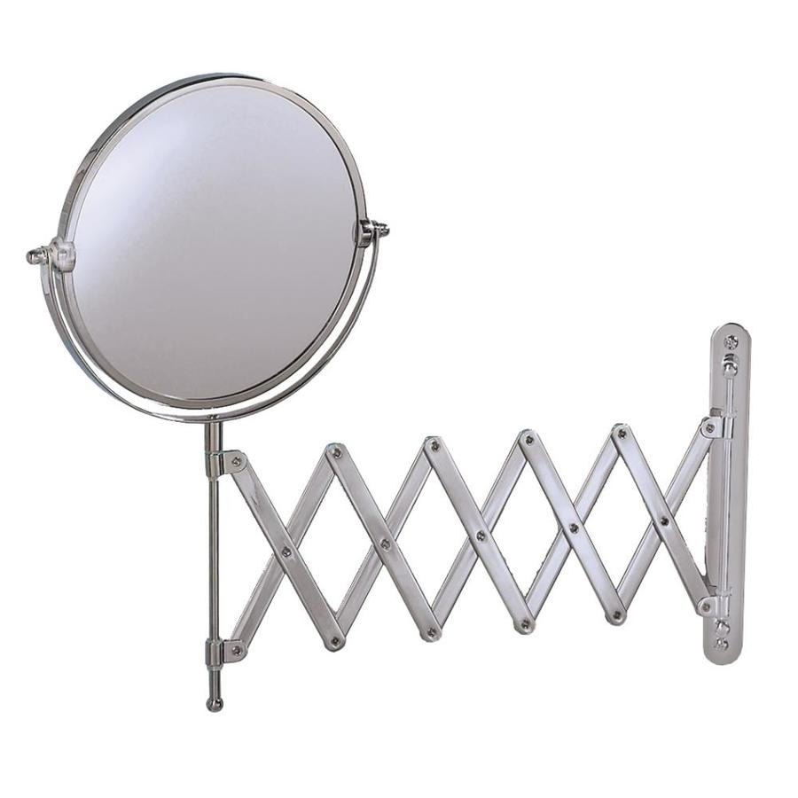 wall mounted mirror shop gatco chrome brass wall mounted vanity mirror at 28893