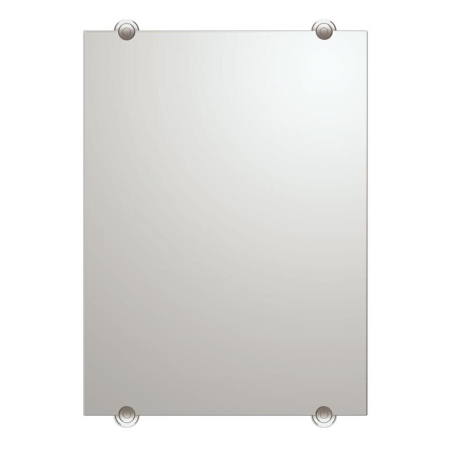 Gatco 30-in H x 22-in W Latitude 2 Rectangular Frameless Bath Mirror with Beveled Edges