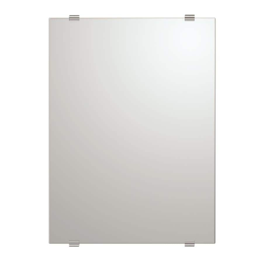Gatco Bleu 22-in W x 30-in H Rectangular Frameless Bathroom Mirror with Chrome Hardware and Beveled Edges