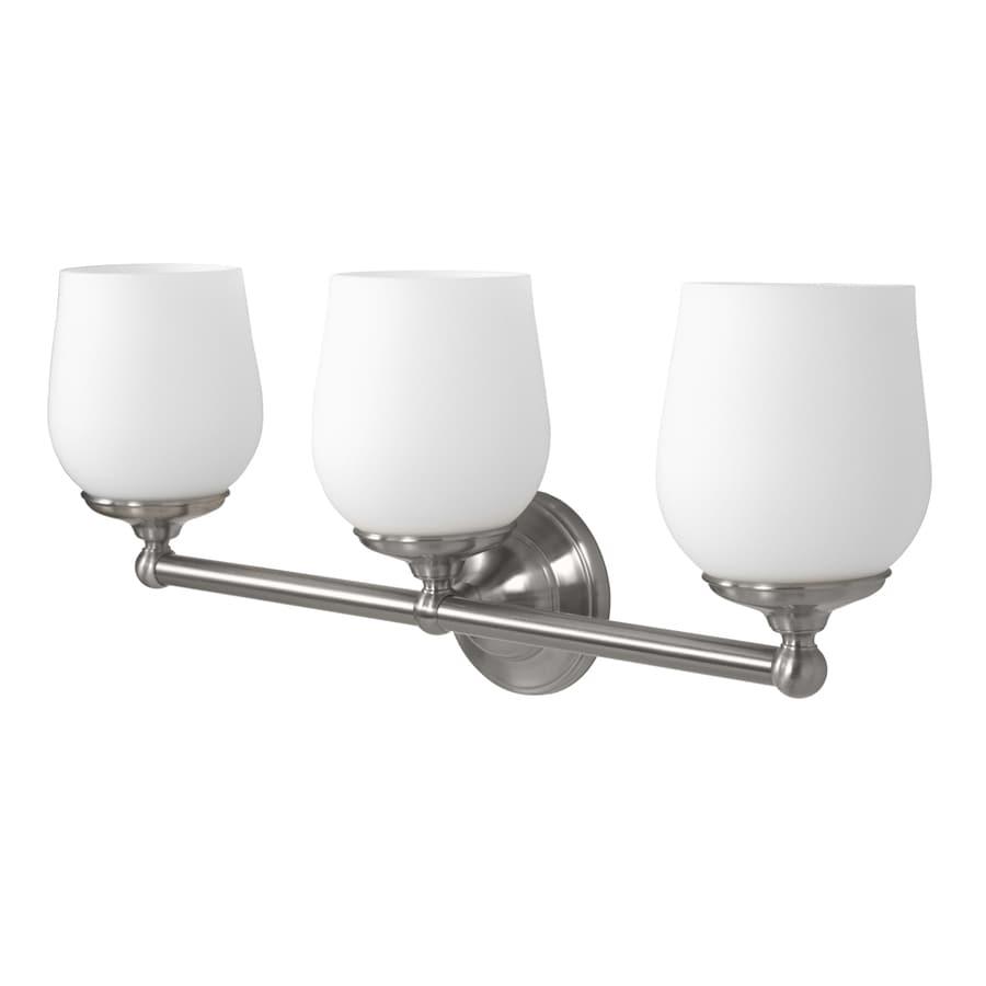 Gatco Oldenburg 3-Light Satin Nickel Bell Vanity Light