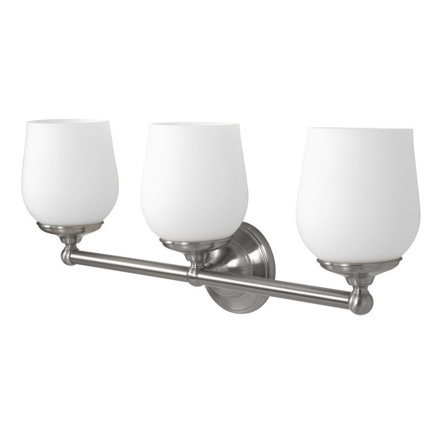 Gatco Oldenburg 3-Light 9.5-in Satin Nickel Bell Vanity Light