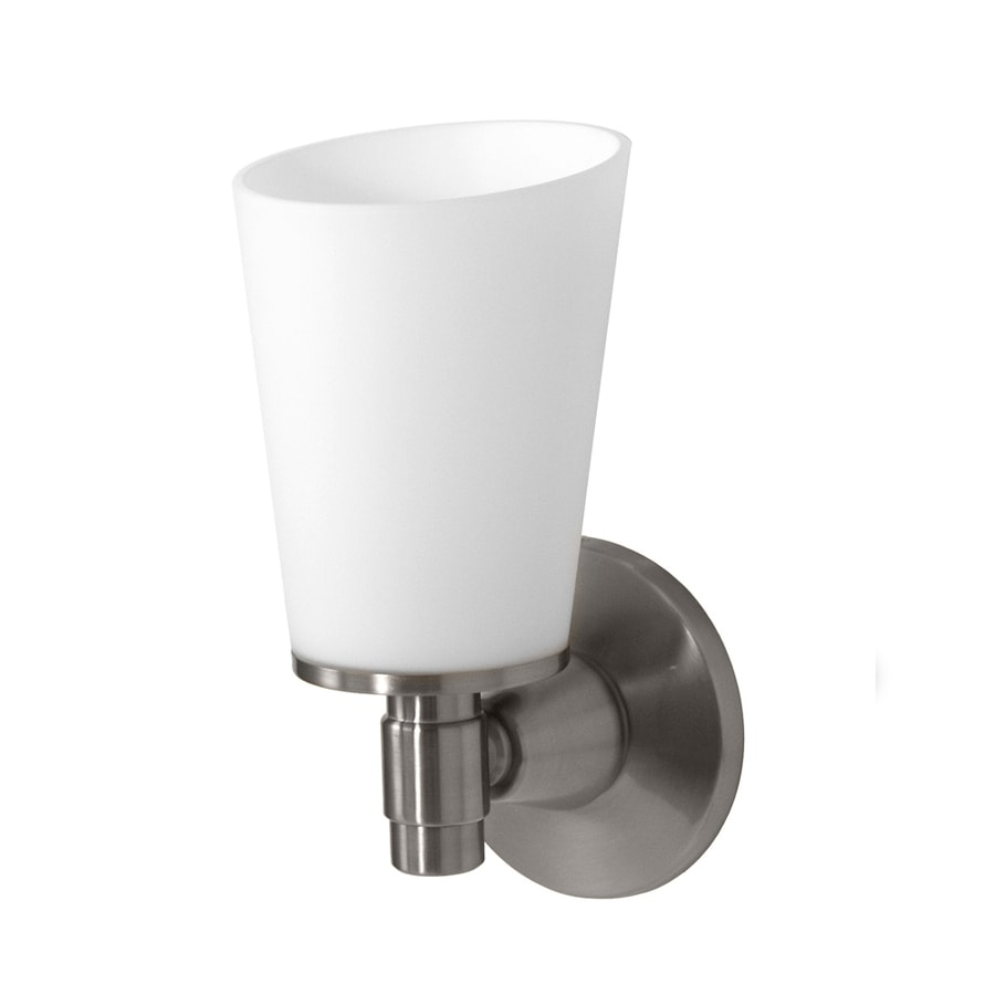 Gatco Max 4.5-in W 1-Light Satin Nickel Arm Wall Sconce