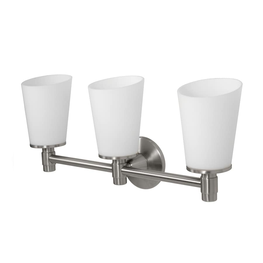 Gatco Max 3-Light Satin Nickel Cylinder Vanity Light