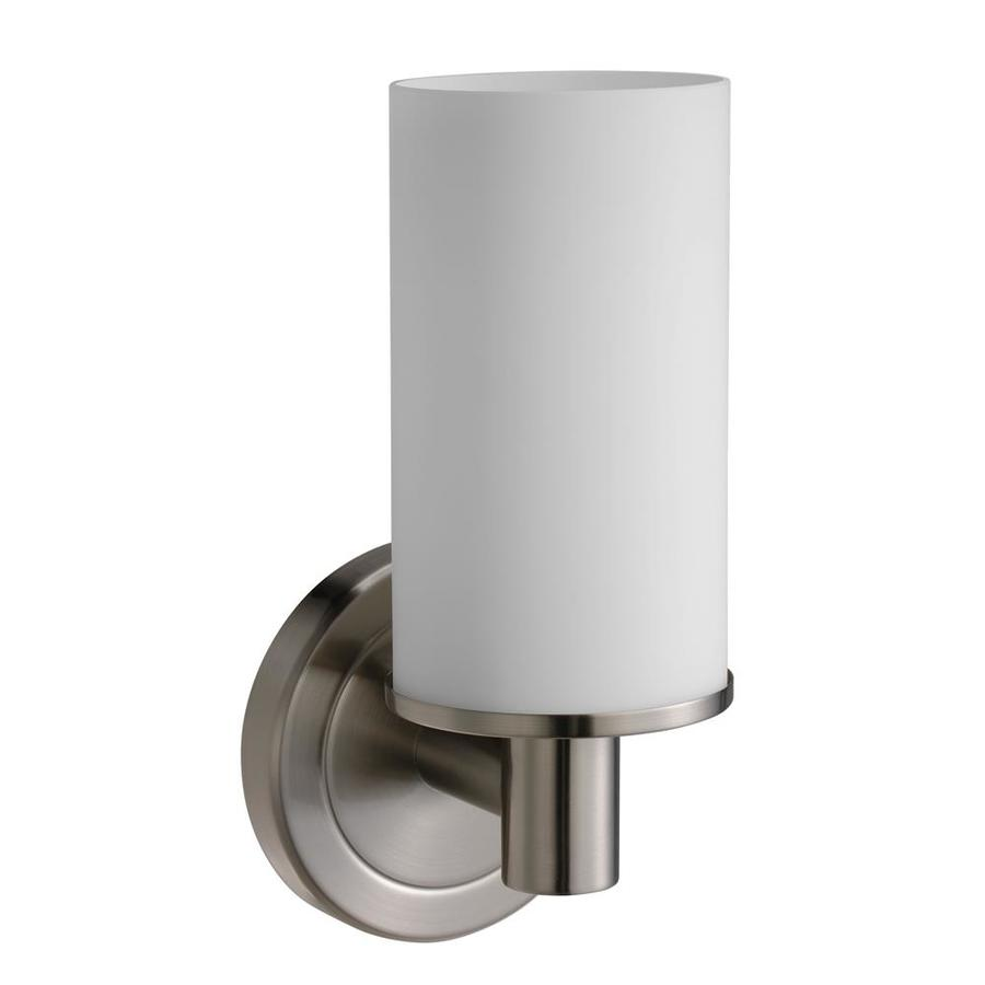 Gatco Latitude 2 4.5-in W 1-Light Satin Nickel Arm Hardwired Wall Sconce