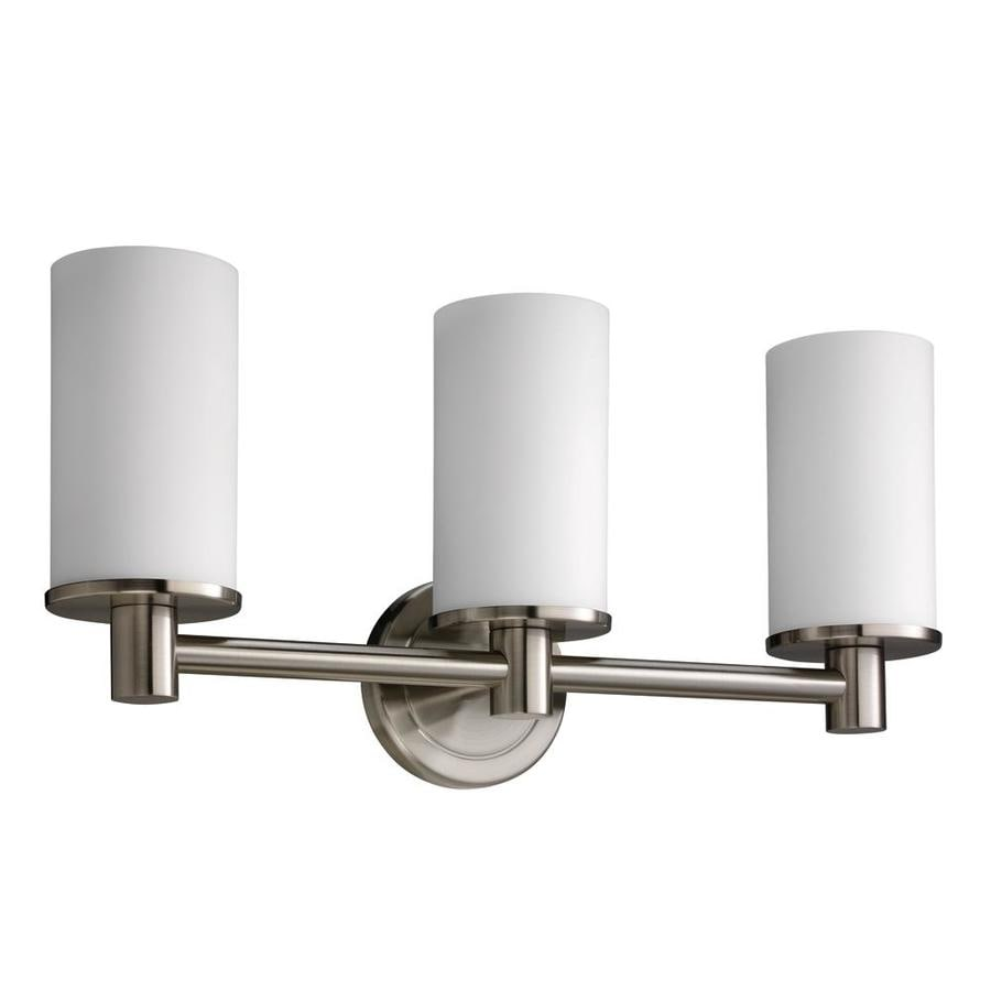 Gatco 3-Light Latitude 2 Brushed Nickel Bathroom Vanity Light