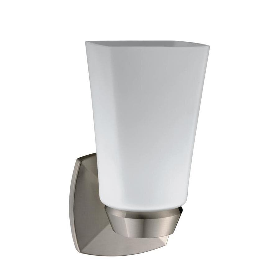 Gatco Jewel 4.5-in W 1-Light Satin Nickel Arm Hardwired Wall Sconce