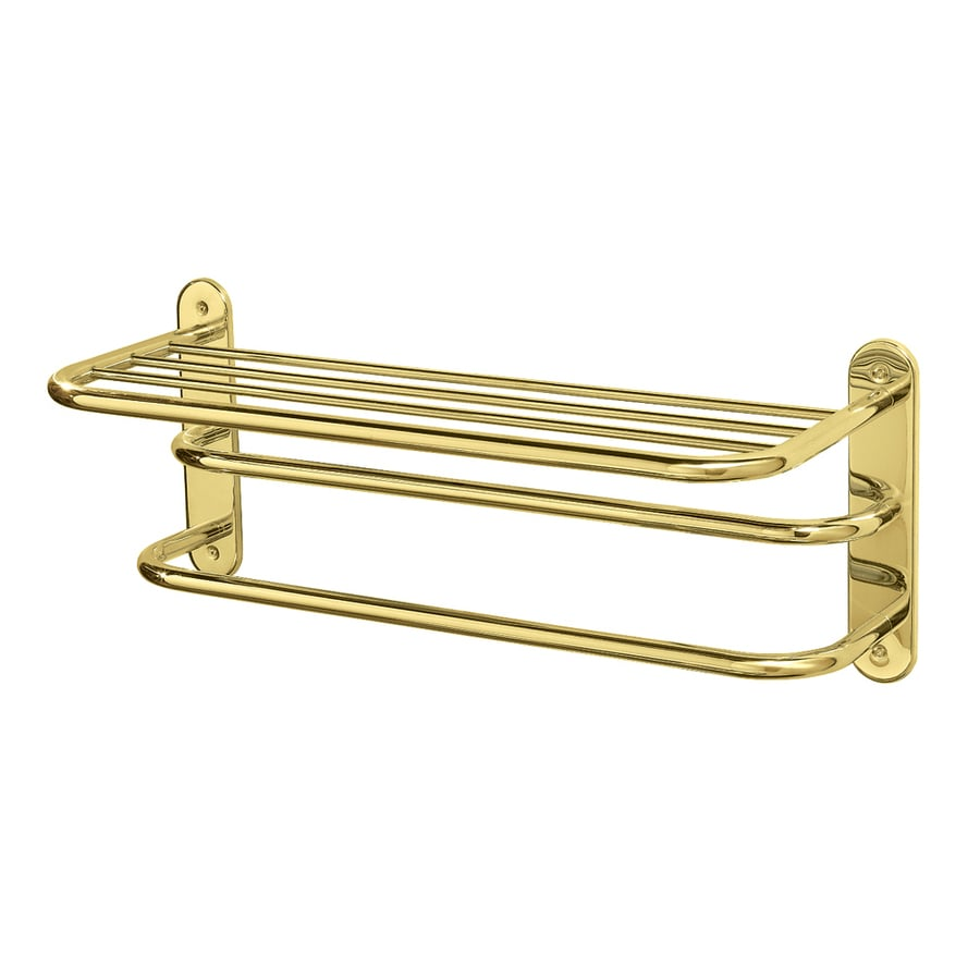 Gatco Essentials Polished Brass Metal Towel Rack