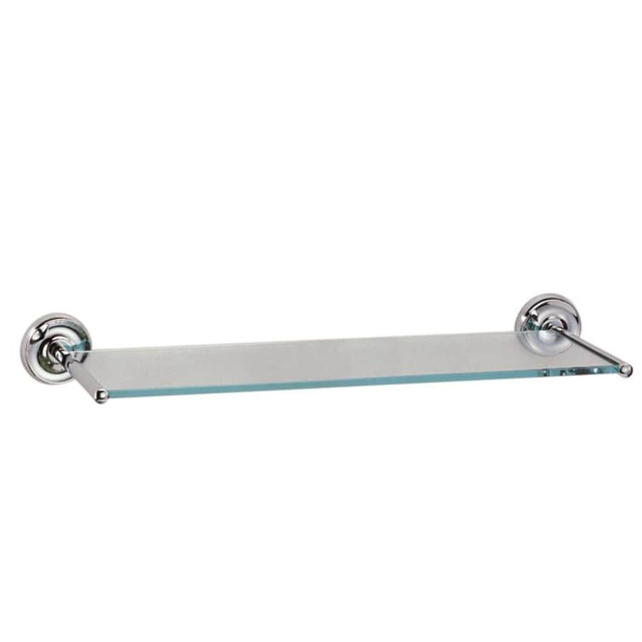 gatco designer chrome glass bathroom shelf