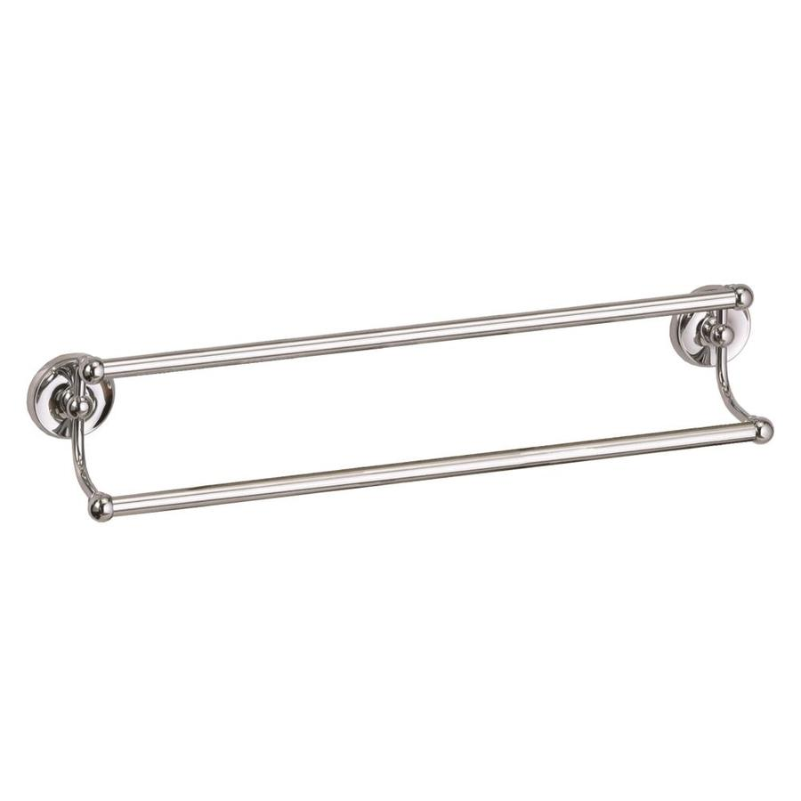 gatco designer 2 chrome double towel bar common 24in actual - Double Towel Bar