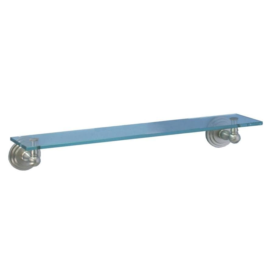 Gatco Marina Satin Nickel Glass Bathroom Shelf