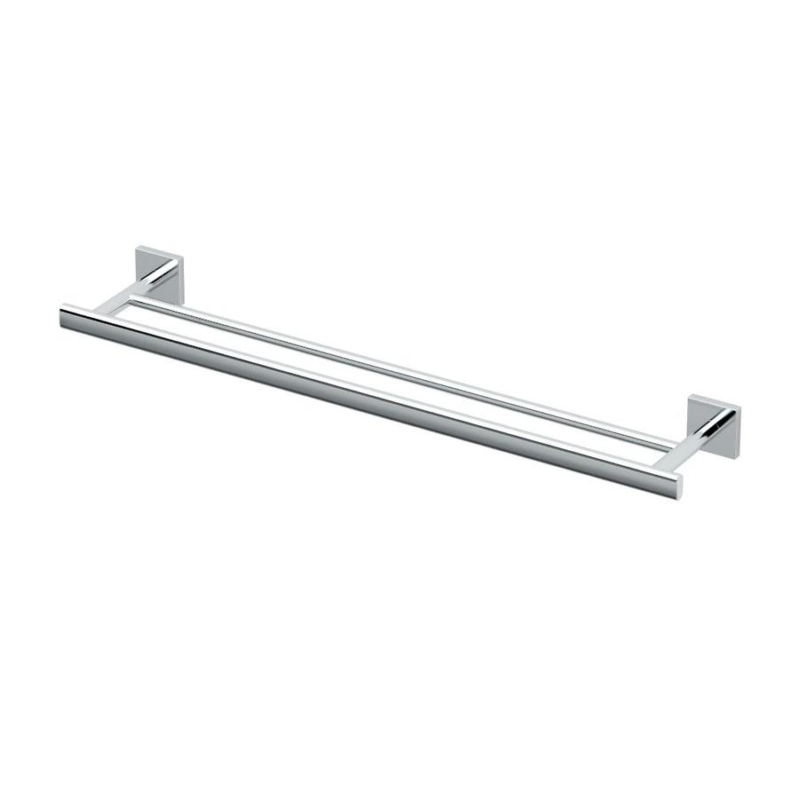 Gatco Elevate Chrome Double Towel Bar (Common: 24-in Double; Actual: 28.75-in)