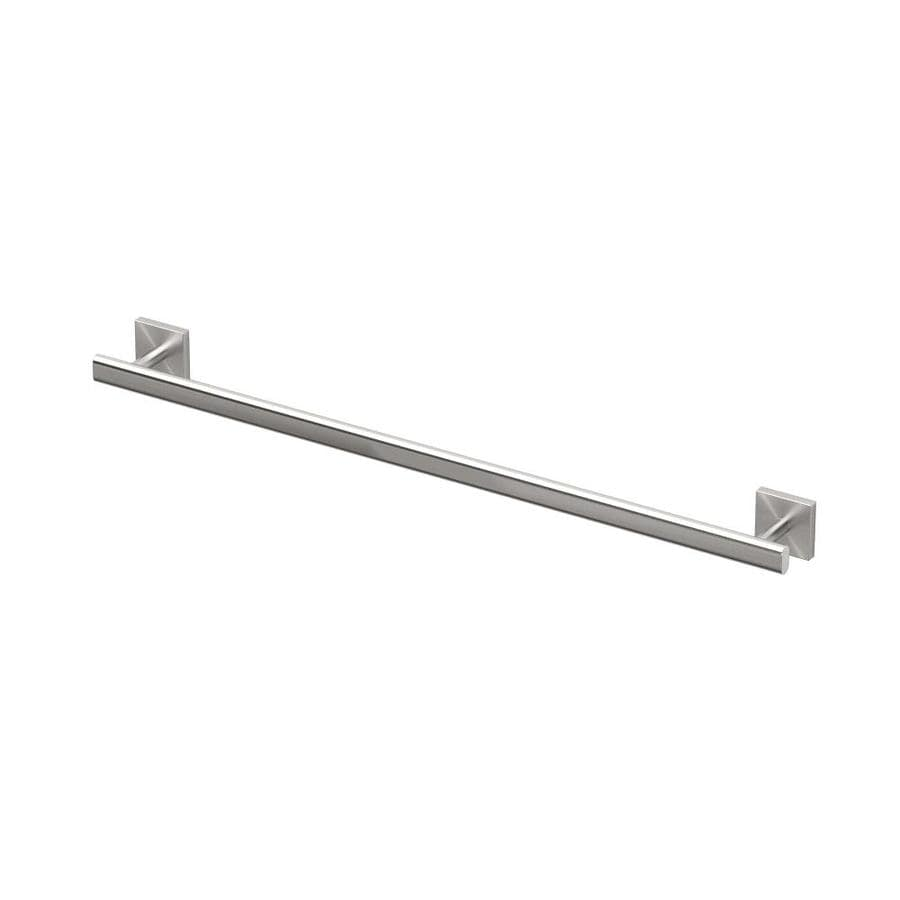 Gatco Elevate Satin Nickel Single Towel Bar (Common: 24-in; Actual: 28.75-in)