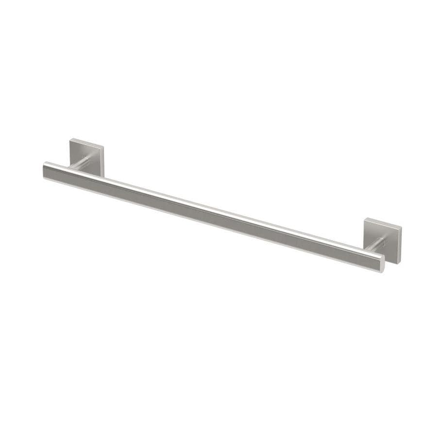 Gatco Elevate Satin Nickel Single Towel Bar (Common: 18-in; Actual: 21.5-in)