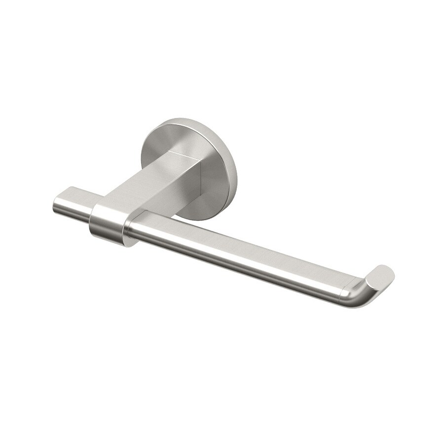 Gatco Zone Satin Nickel Surface Mount Single Post with Arm Toilet Paper Holder