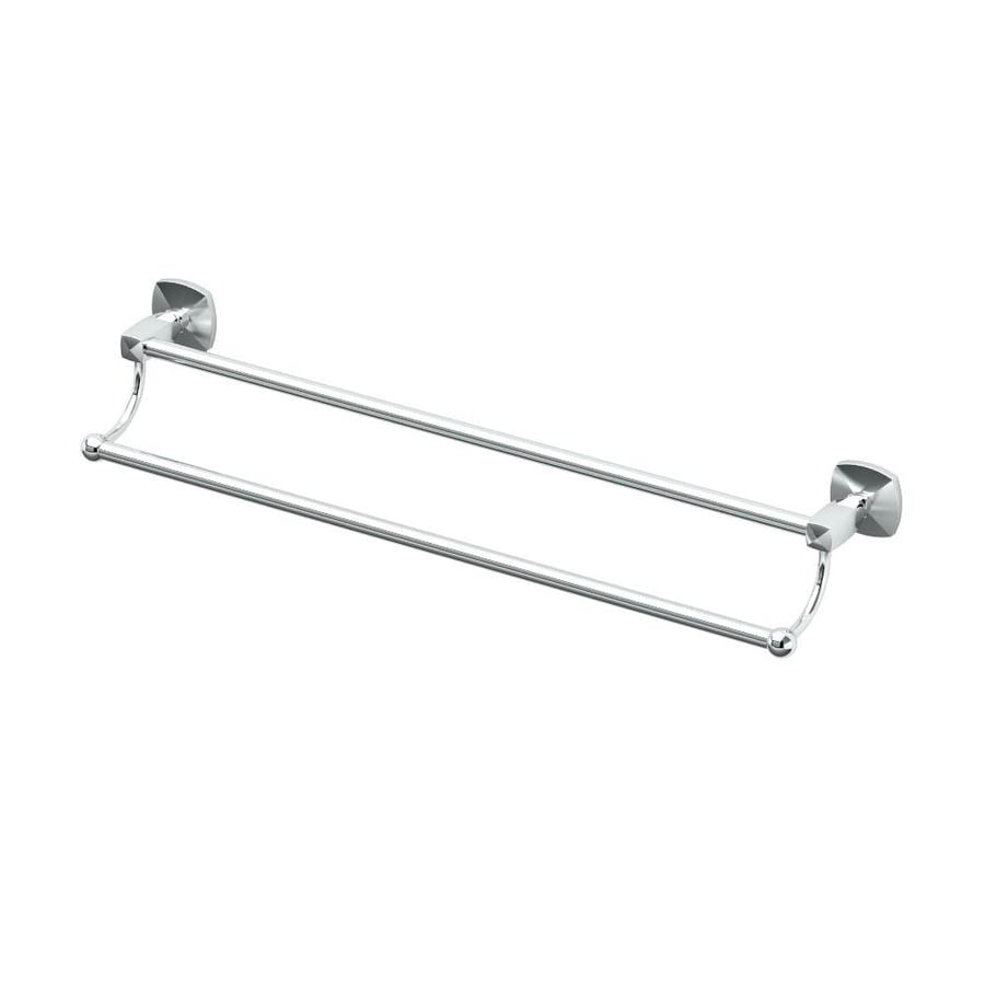 Gatco Jewel Chrome Double Towel Bar (Common: 24-in Double; Actual: 25.75-in)