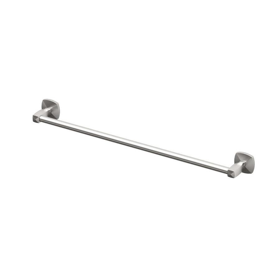Gatco Jewel Satin Nickel Single Towel Bar (Common: 24-in; Actual: 27.425-in)