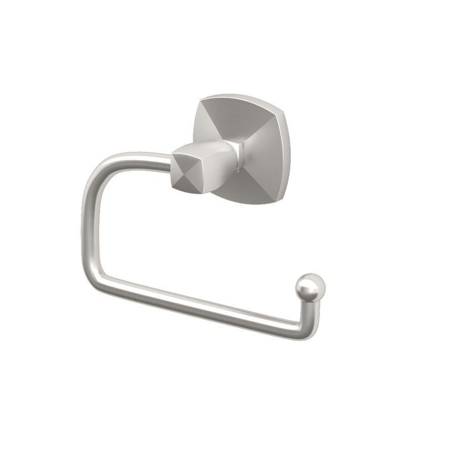 Gatco Jewel Satin Nickel Surface Mount Single Post with Arm Toilet Paper Holder