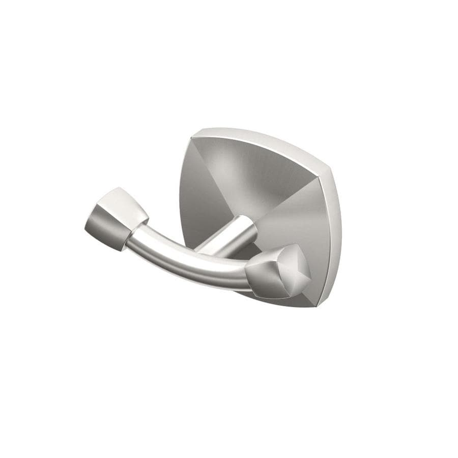 Gatco Jewel 2-Hook Satin Nickel Robe Hook