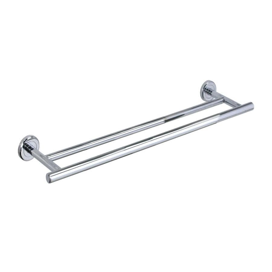 Gatco Latitude 2 Chrome Double Towel Bar (Common: 24-in; Actual: 26-in)