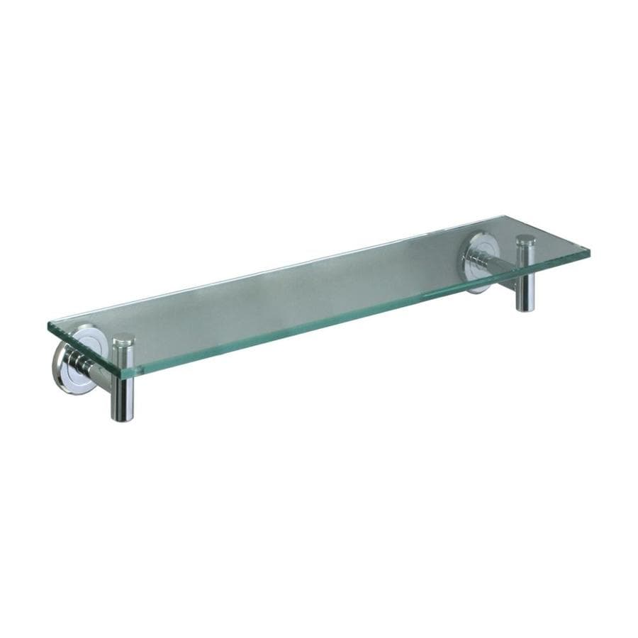 Shop Gatco Latitude Chrome Glass Bathroom Shelf at Lowes.com