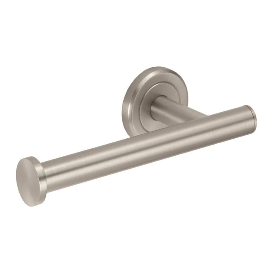 gatco latitude 2 satin nickel surface mount toilet paper holder