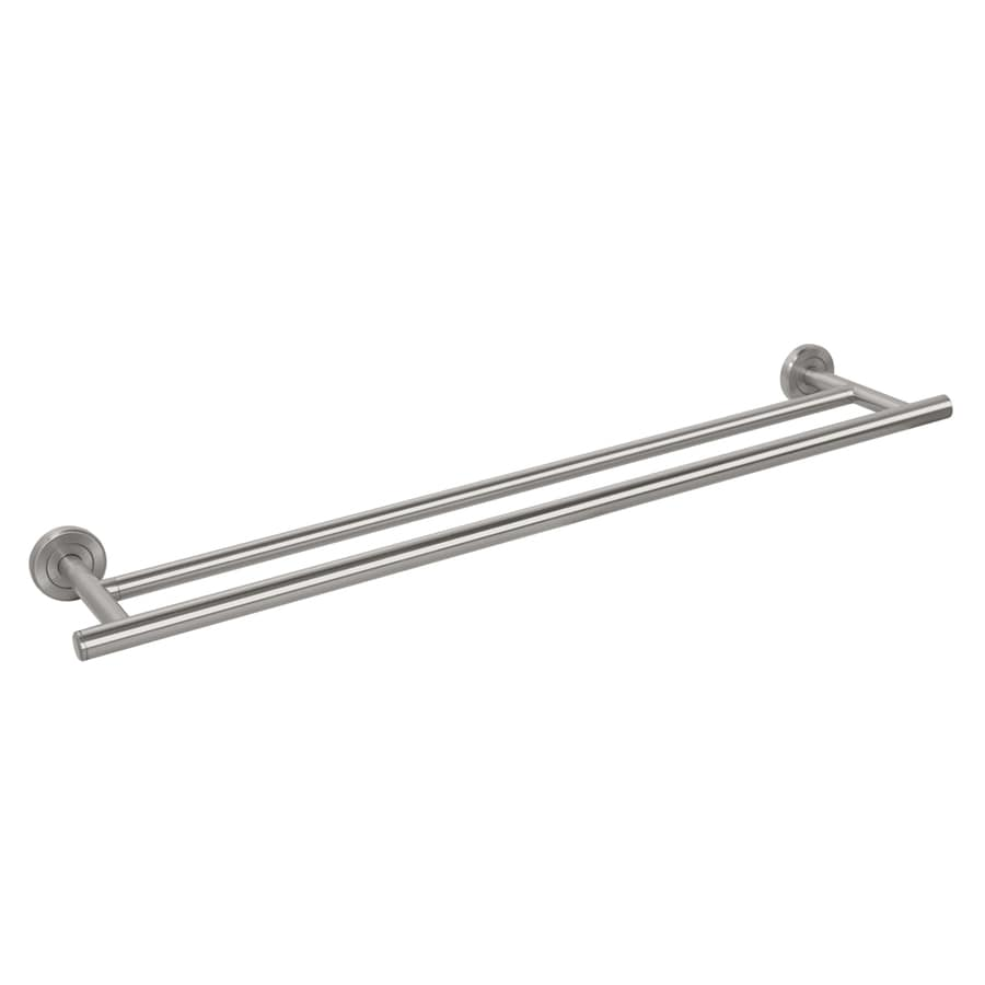 gatco latitude 2 satin nickel double towel bar common 24in actual - Double Towel Bar