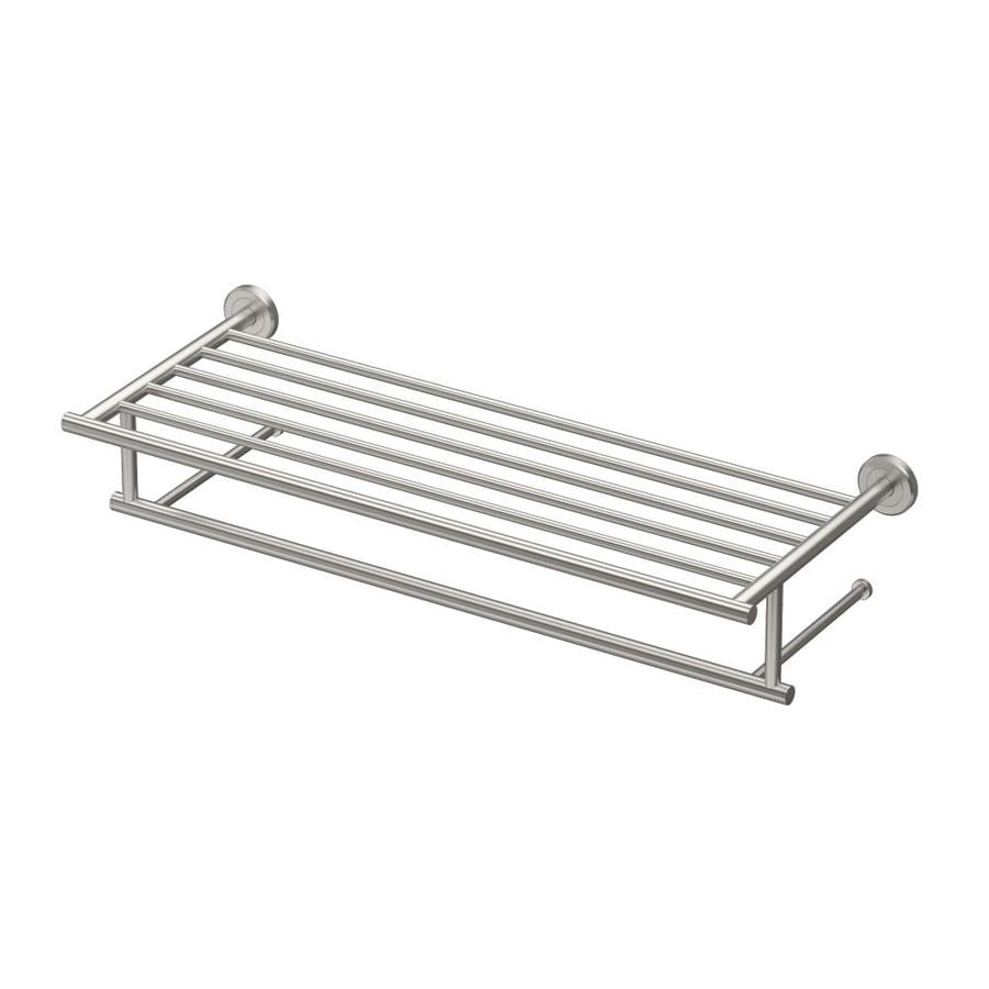 Gatco Latitude 2 Satin Nickel Double Towel Bar (Common: 26-in; Actual: 26-in)
