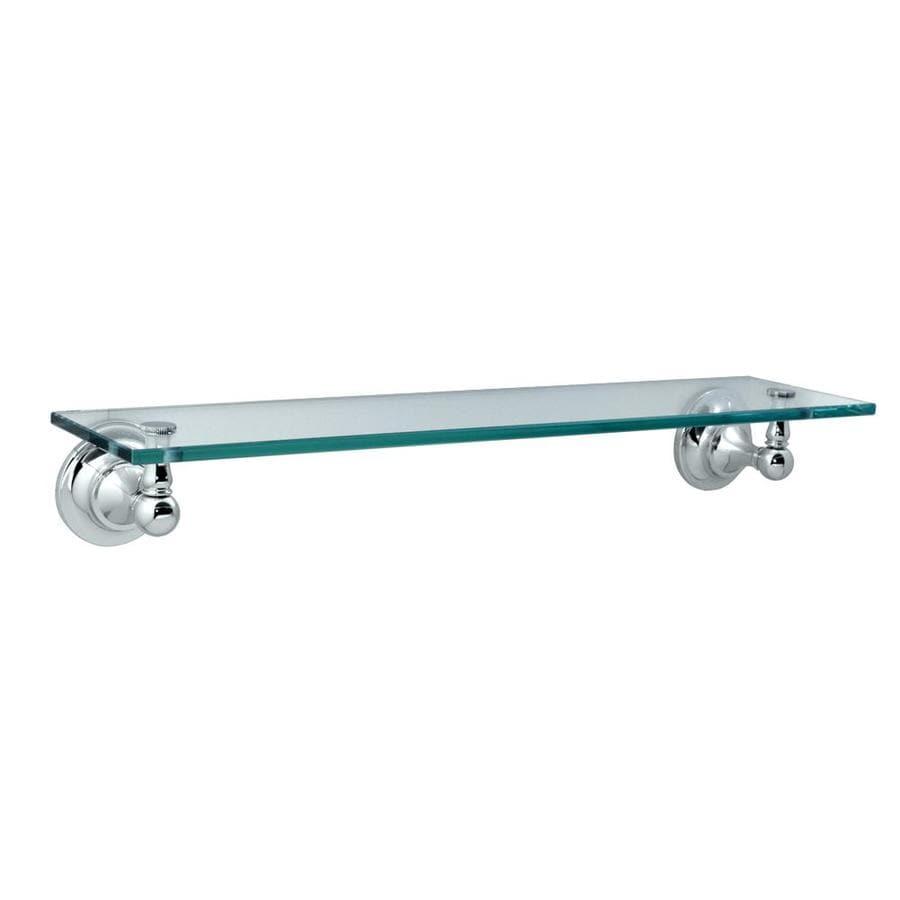 Gatco Tiara Chrome Glass Bathroom Shelf