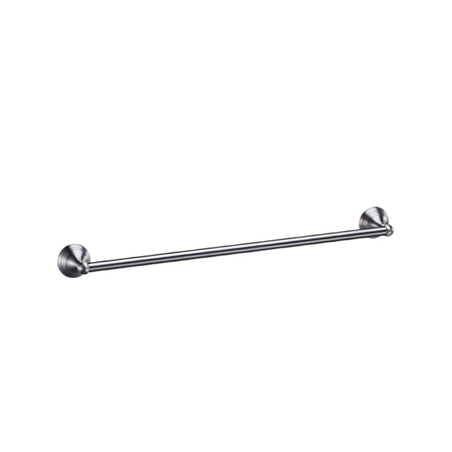 Gatco Charlotte Satin Nickel Single Towel Bar (Common: 24-in; Actual: 26.5-in)