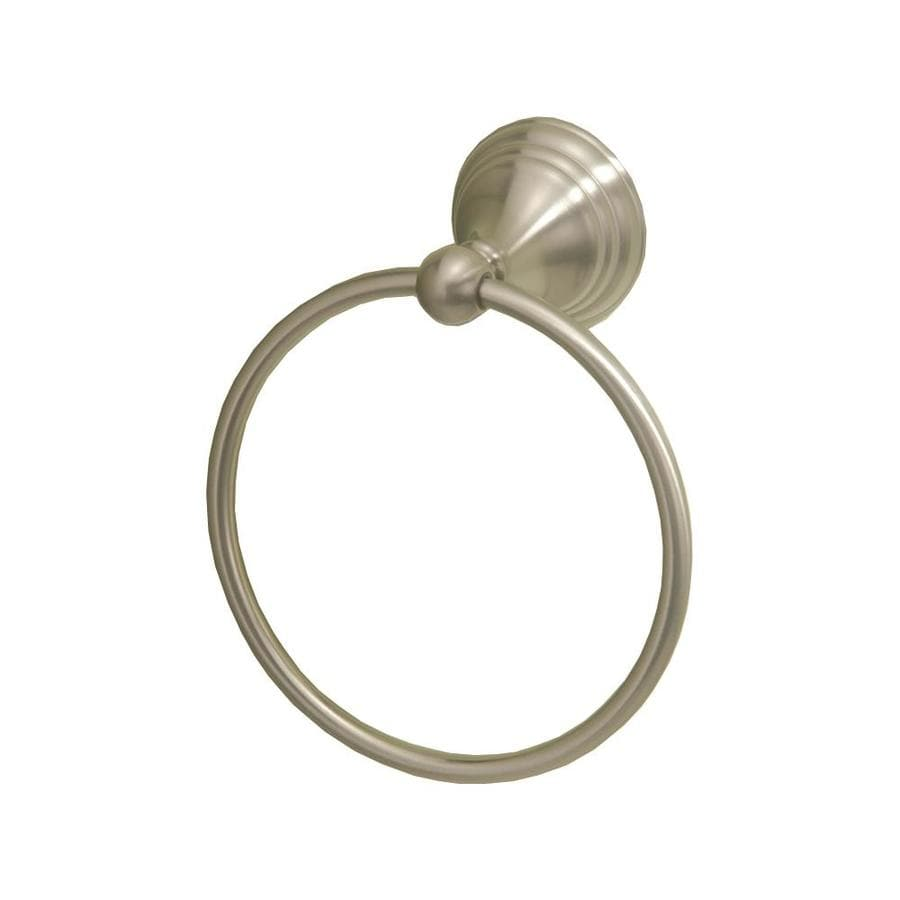 Gatco Charlotte Satin Nickel Wall-Mount Towel Ring