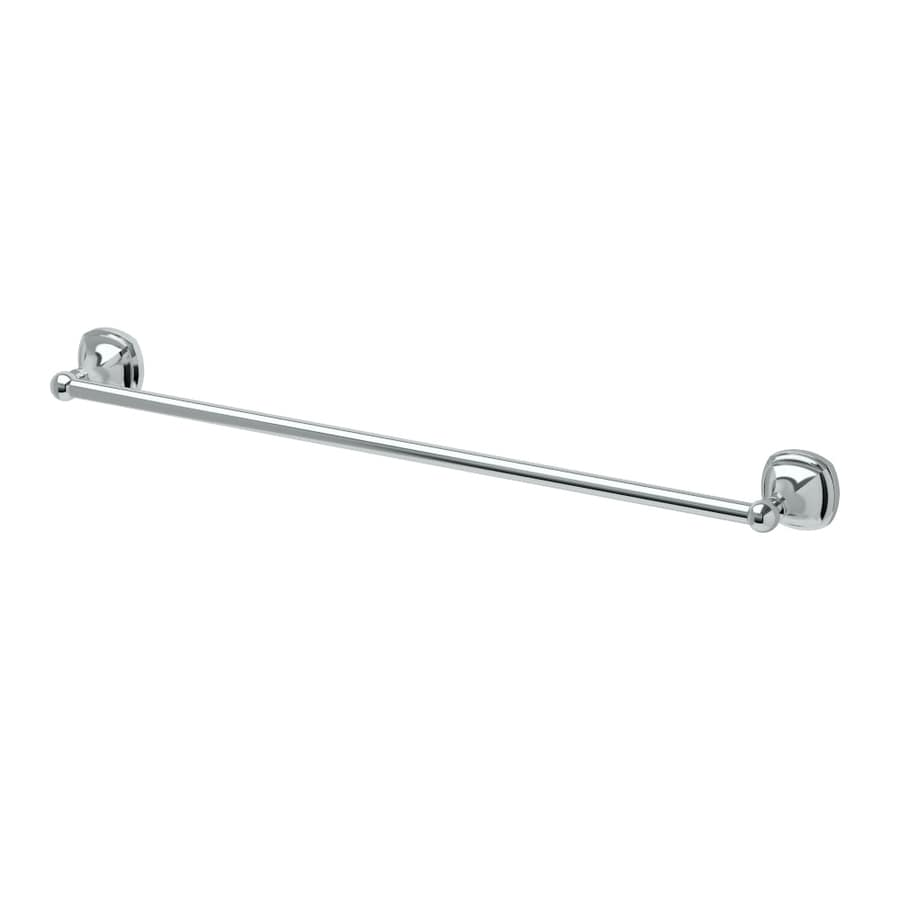 Gatco Lucerne Chrome Single Towel Bar (Common: 24-in; Actual: 26.5-in)